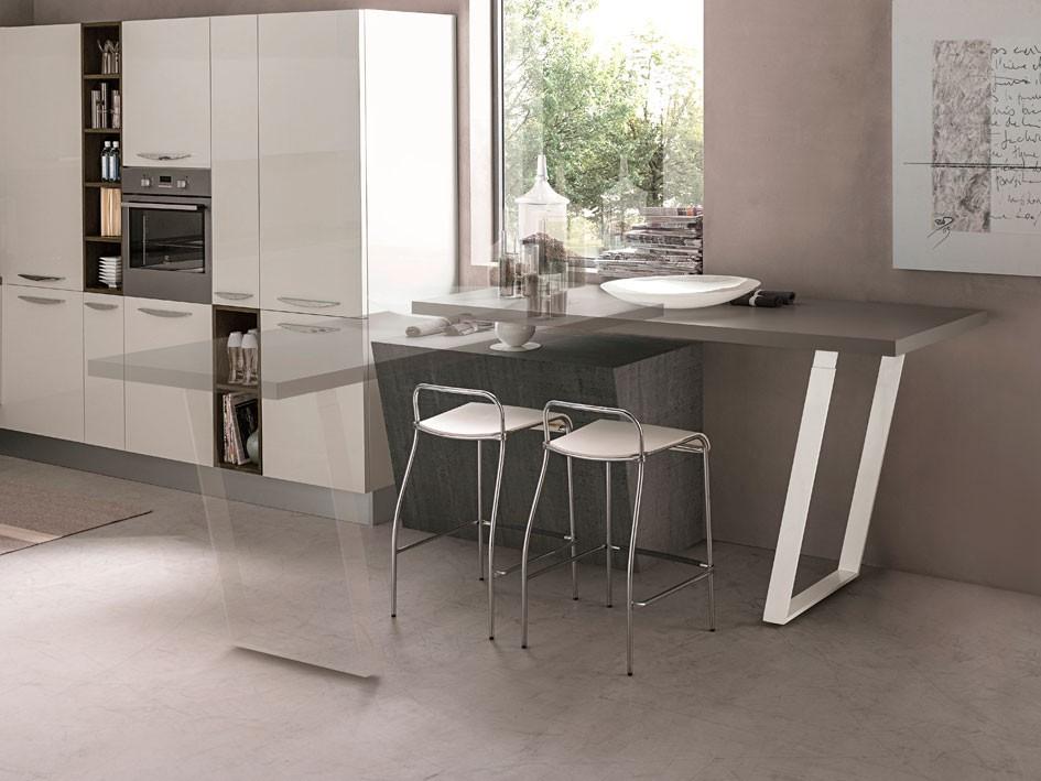 Mesas de cocina un accesorio fundamental davinia cocinas for Mesa encimera cocina