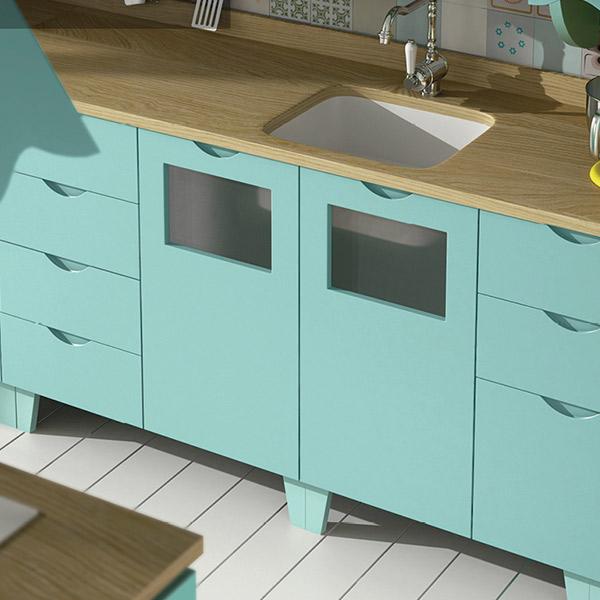 Muebles de cocina laminados davinia cocinas y decoraci n - Laminados para cocina ...