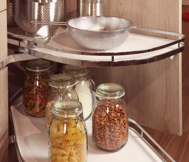 Rinconeras de cocina. Aproveche al máximo el espacio