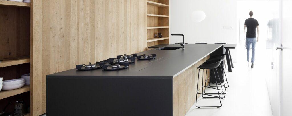 encimara de cocina con quemadores integrados