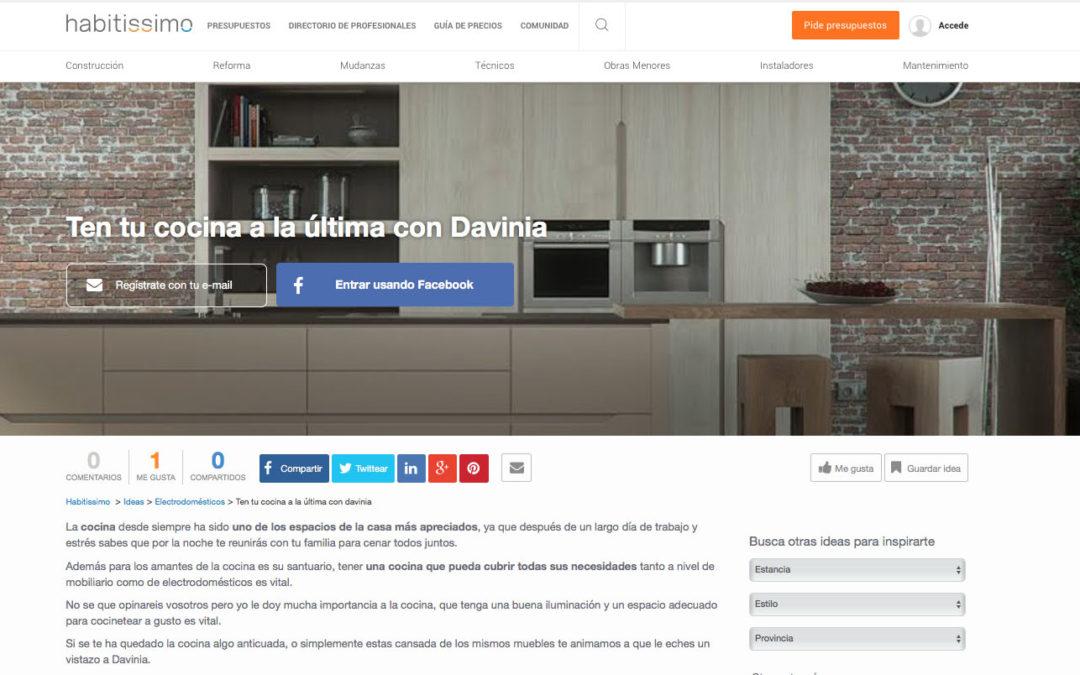 Su cocina a la última con Davinia, artículo de Habitissimo