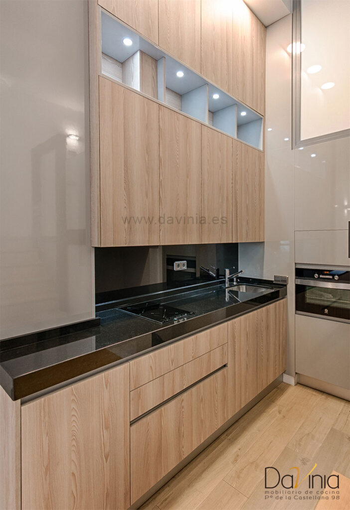 Cocina en loft centro de Madrid