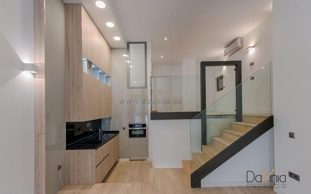 Proyecto de cocina en un ático loft de Madrid
