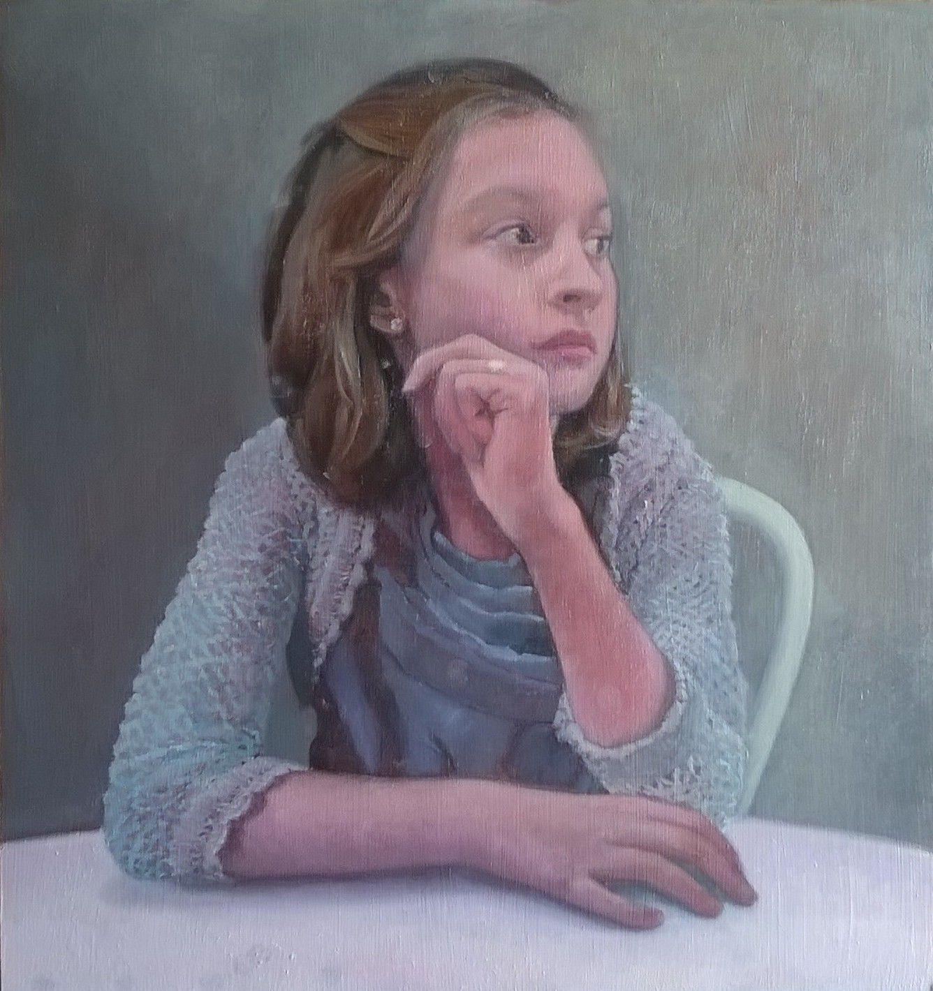 niña - jesus saenz - pintura