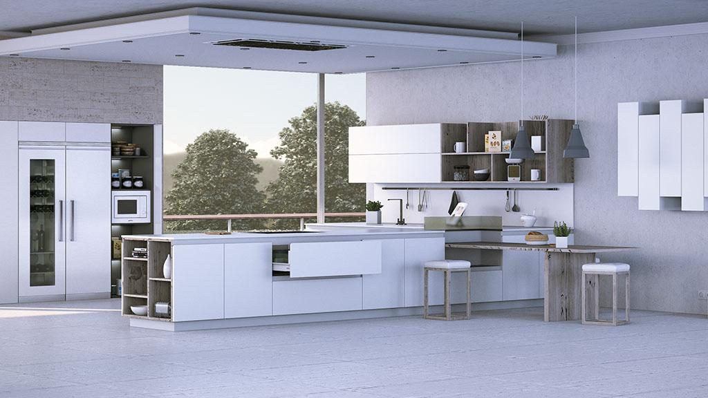 Cocinas modernas en color blanco, una apuesta elegante y segura