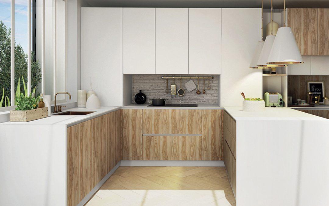 Medidas estándar en los muebles de una cocina