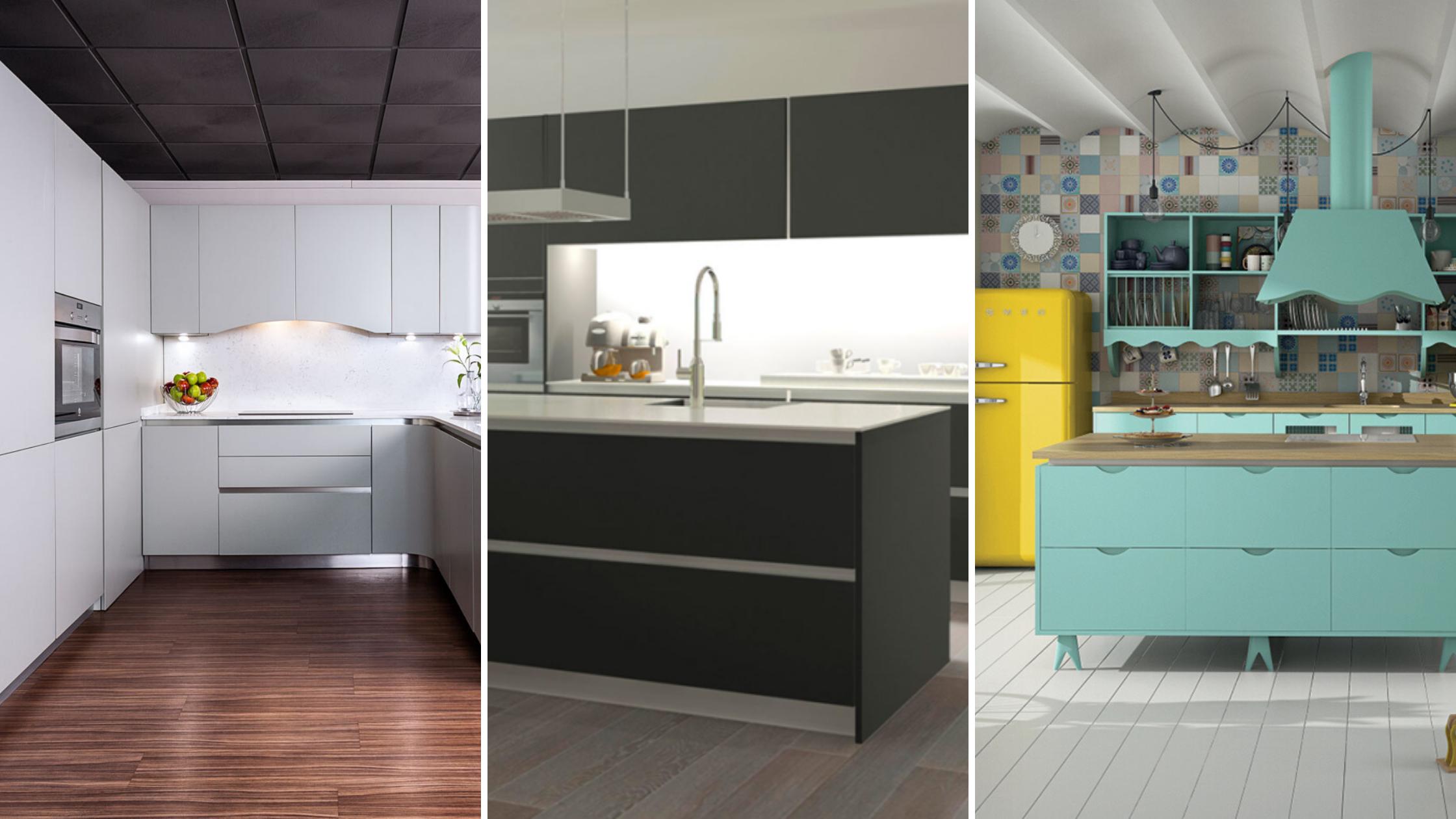 Cocinas en blanco, en negro o en color, ¿con cuál se quedan?