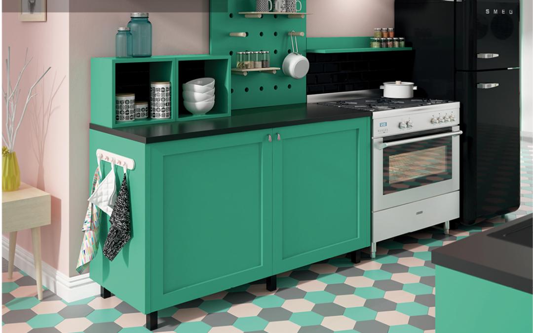 Cocinas en color verde: consejos e inspiración