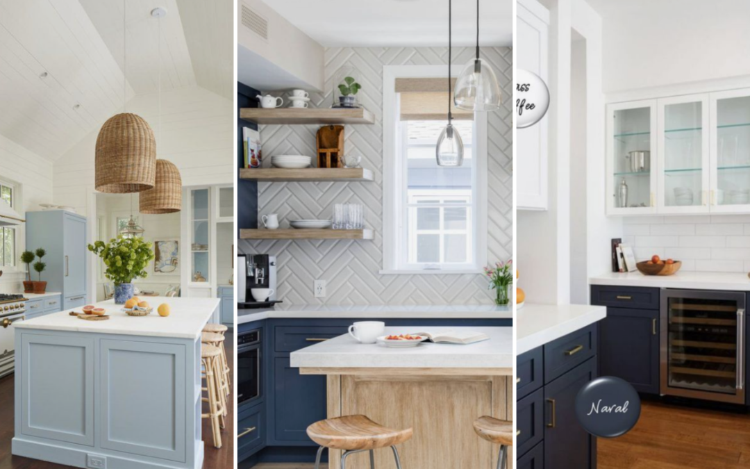 Cocinas en color azul
