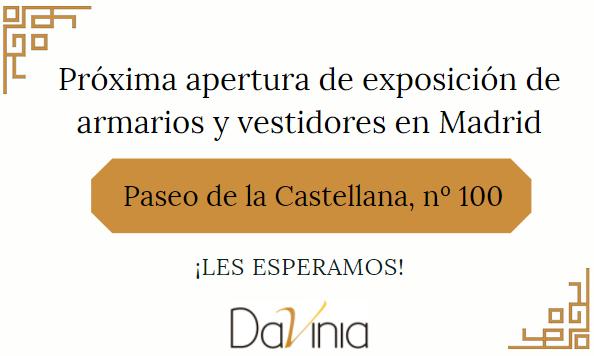 Próxima exposición de armarios y vestidores en Madrid